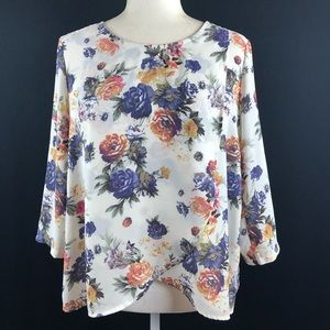 Lush Floral Tulip Front Top